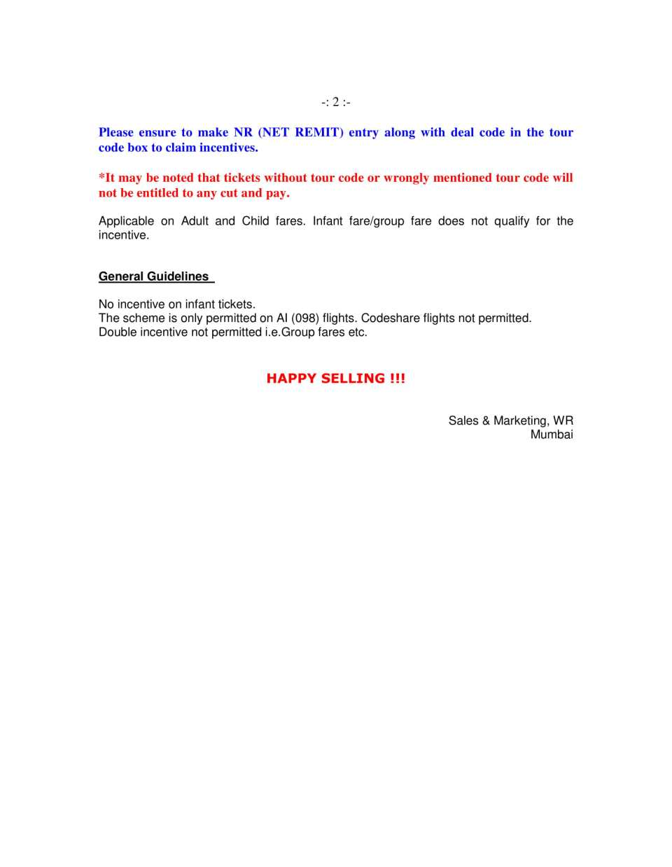 Cut & Pay Scheme Inc on DEL-TLV-DEL MON Flt Only (Cir 373F)-2
