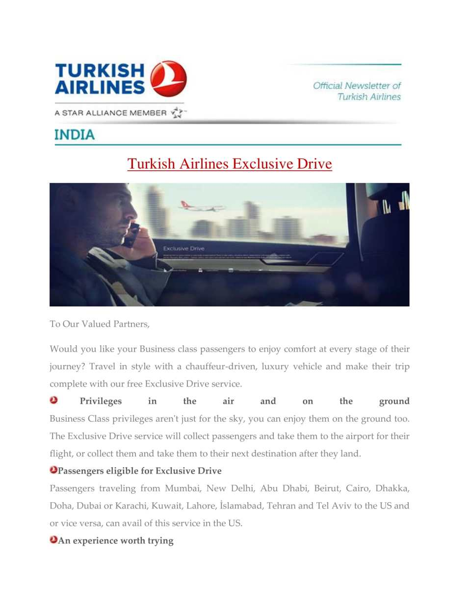Turkish Airlines Exclusive Drive-1