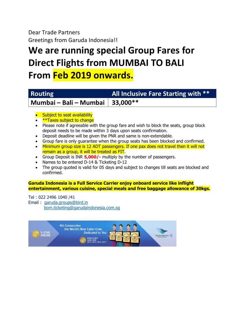 new dps group promotional fare-1