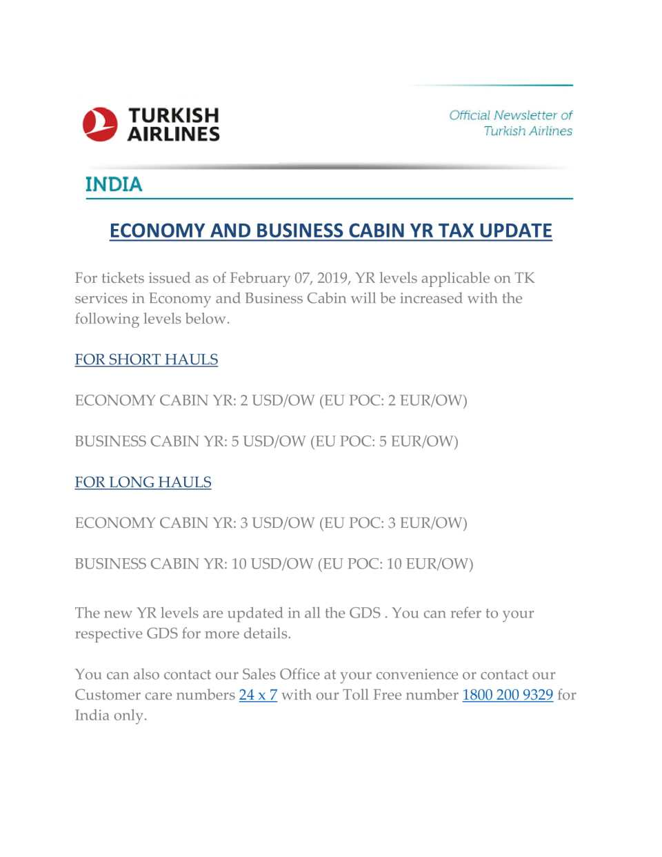 Turkish Airlines YR TAX update-1
