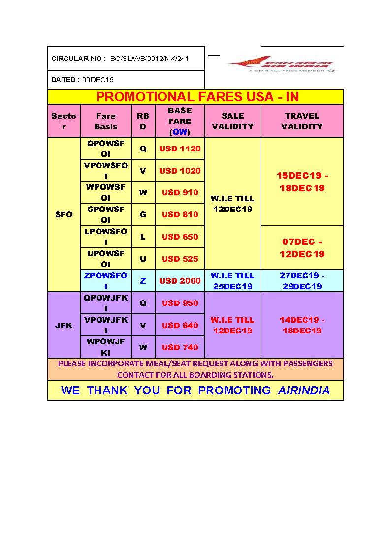Copy of PROMO FARES US - IN (CIR 241A)